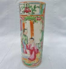 Antique China Vases Antique Chinese Canton Famille Rose Medallion Vase Brush Pot H P
