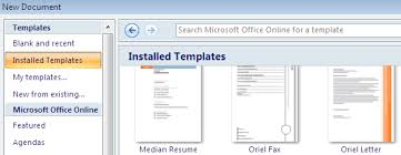 How To Use Resume Template In Word 2007 Using Microsoft Word Templates Technology Help And Information