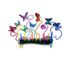 hanukkah menorahs david gerstein butterflies hanukkah menorah ajudaica