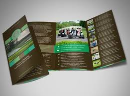 Tri Fold Program Golf Tournament Brochure Template Mycreativeshop