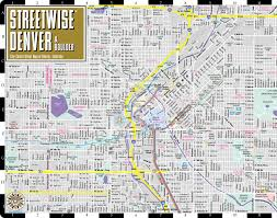 Colorado Map Of Cities streetwise denver map laminated city center street map of denver