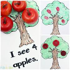 free printable book perfect for a preschool apple theme