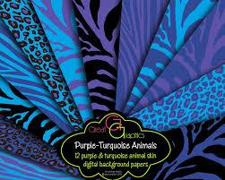 purple and turquoise animal print paper purple zebra turquoise
