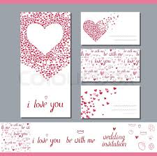 Wedding Invitation Symbols Templates With Heart Made Of Small Ones Phrase Wedding Invitation