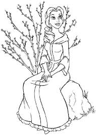 lovely disney princess belle coloring pages 2098 disney princess