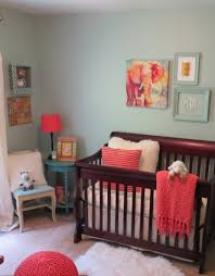 Baby Room Colors Molly U0027s Blue And Coral Nursery Coral Nursery Dark Furniture And