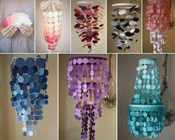 How To Make A Cardboard Chandelier Diy Ombre Paint Swatch Chandelier