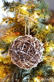 rustic ornaments diy glittery grapevine balls