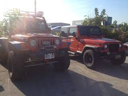 jeeps jeeps parking next to other jeeps jeep wrangler tj forum