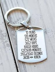 10 year anniversary gift for year anniversary gift personalized custom engraved key chain