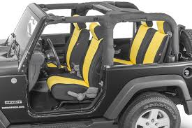 yellow jeep interior 2007 2018 wrangler jk interior quadratec