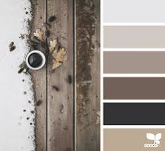 white color adds volume to a combination of soft gray brown hues