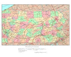 Map Of New York State Cities by Maps Of Pennsylvania State Collection Of Detailed Maps Of