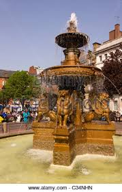 ornamental water in town square leicester