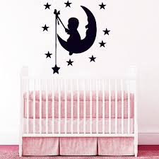 28 wall sticker baby room personalised baby wall sticker by wall sticker baby room wall decals moon stars decal vinyl sticker nursery baby