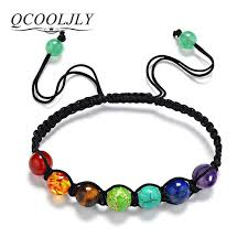 stone bracelet diy images Diy 7 colorful natural stone beads crystal chakra bracelet for jpg