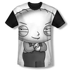 family guy thanksgiving episode family guy stewie head black back 100 poly t shirt