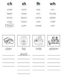 english worksheet digraphs th ch sh надо попробовать