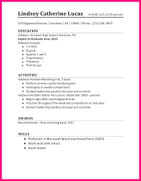 Good Resume Example For High by Job Resume Examples For High Students Student Summer Format
