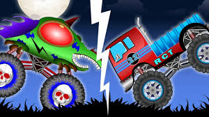 monster truck videos free scary monster truck videos for children halloween special for