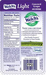 welch s light grape juice nutrition facts welch juice nutrition label jpg
