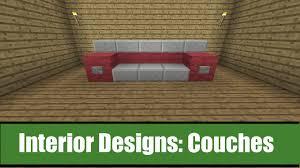 Minecraft Interior Design by Minecraft Interior Designs Couch Ideas Youtube