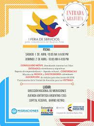 consolato colombiano 1a feria de servicios consulado colombiano en buenos aires