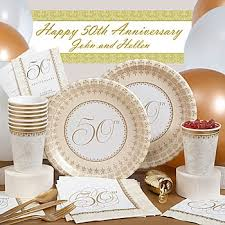 50th anniversary party favors 50th wedding anniversary supplies 50th golden anniversary party