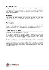 javascript tutorial online book javascript tutorial tutorialspoint