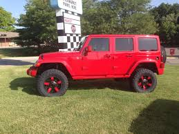 red customized jeep wranglers jeep wrangler unlimited lifted red image 53