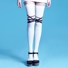 striped the knee socks for monochrome stripes da