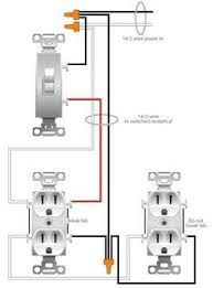how to wire a light switch and receptacle together google search
