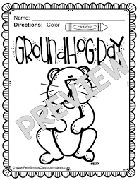 groundhog day coloring page looking for shadow medium size of