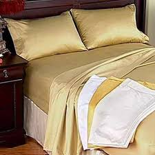 1000 count 100 cotton sheets california king set in gold