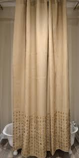 Burlap Shower Curtains Burlap Button 72x96 Shower Curtain Curtains Some No Sew