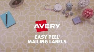 avery easy peel permanent laser address labels 1 13 x 4 white pack