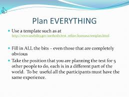usability testing planning and reporting ppt video online download