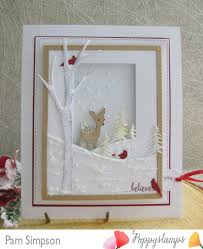 framed greeting cards handmade winter greeting card pam used die cuts from