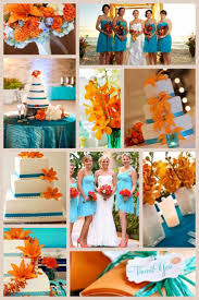What Color Goes With Light Blue by Best 25 Orange Turquoise Wedding Ideas On Pinterest Teal Orange