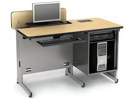 Hideaway Computer Desk Cabinet Hide Away Series Classroom Tables Computer Lab Tables