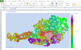 Excel Heat Map Excel Austria Add In 2 Digits Post Code Map