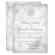 snowflake wedding invitations winter wedding invitations announcements zazzle