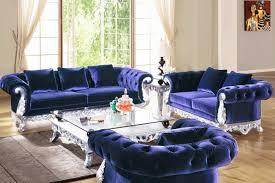 home living room 2 pcs laguna blue sofa set living