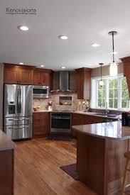 Under Cabinet Kitchen Lights Kitchen Island Grande Peninsula Kitchen Design Medium Brown Flat