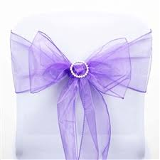 Purple Chair Sashes Organza Sash Organza Chair Sashes
