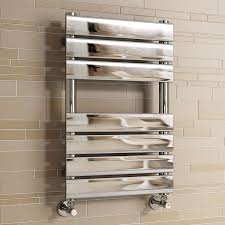 Small Heated Towel Rails For Bathrooms Ibathuk 650 X 400 Mm Chrome Designer Flat Panel Heated Towel