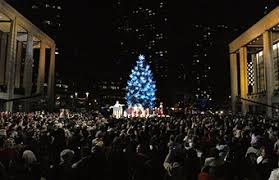 lincoln center u0027s 16th annual holiday tree lighting ceremony photos