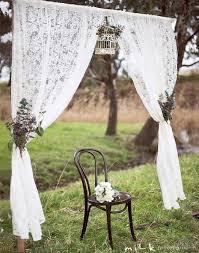 rustic wedding arch lace curtains wedding ideas