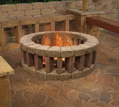 firepit with openings at the bottom for airflow and keep feet warm