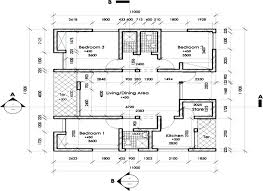 Bungalo Floor Plan Floor Plan Of A 3 Bedroom Bungalow In One Of The Housing Estates